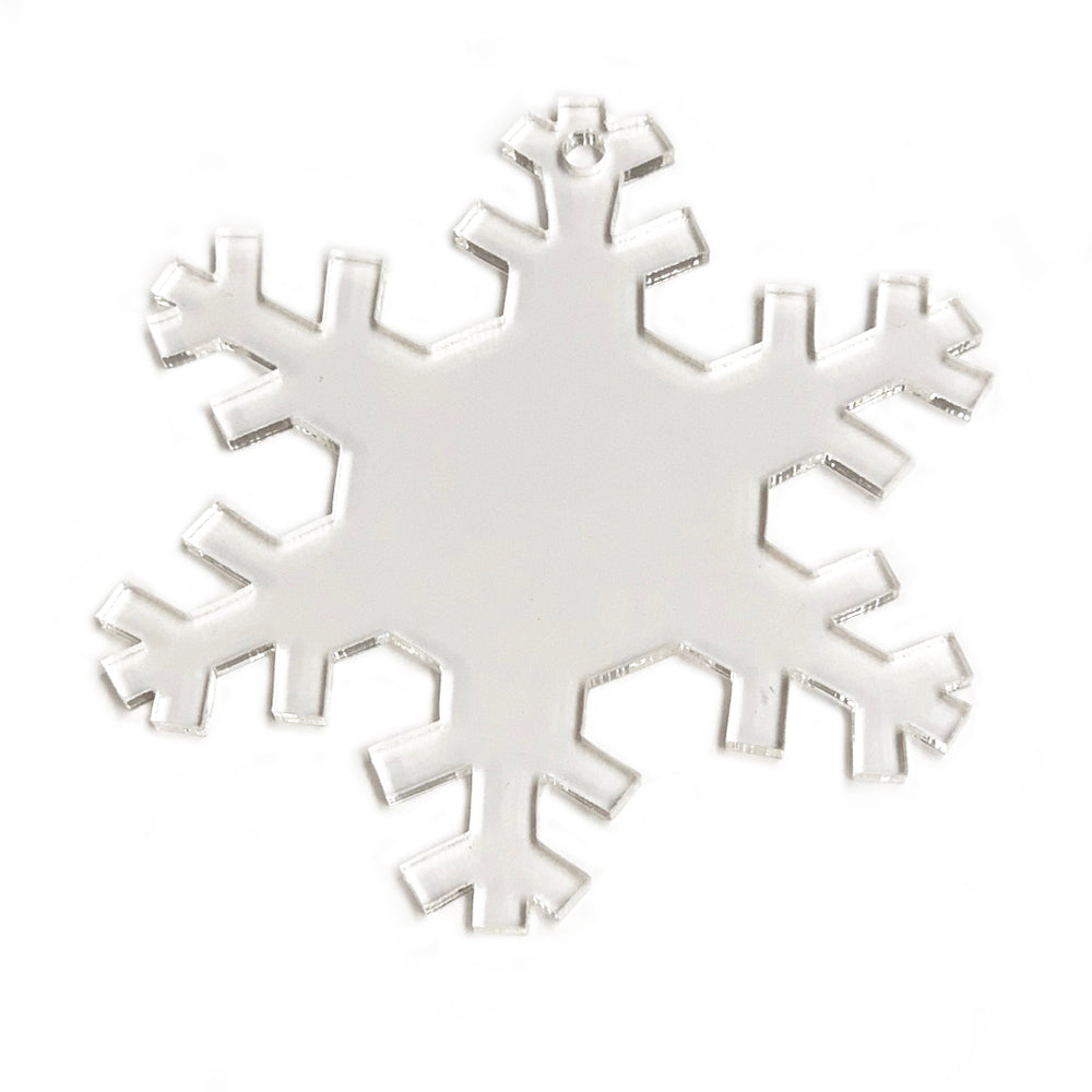Acrylic  Clear Snowflake Clear Ornament 3