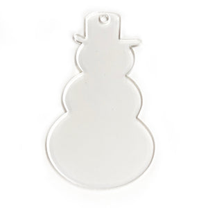 "Acrylic Clear Snowman Ornament 3"" Pack of 10"