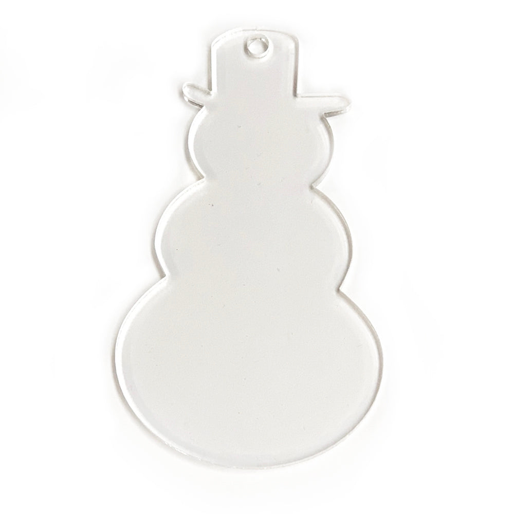 Acrylic Clear Snowman Ornament 3