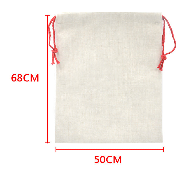 Linen Sublimation Santa Sack 50cm x 68cm Pack of 6