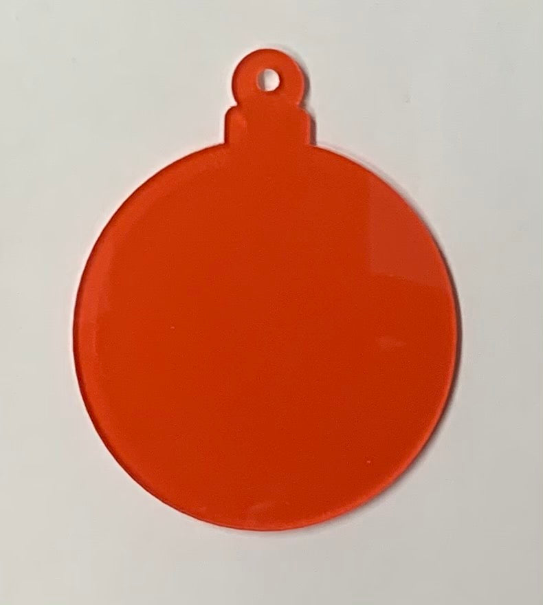 Acrylic Round Clear Ornament 3