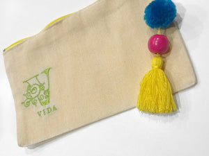 VIDA logo small handmade cosmetic bag