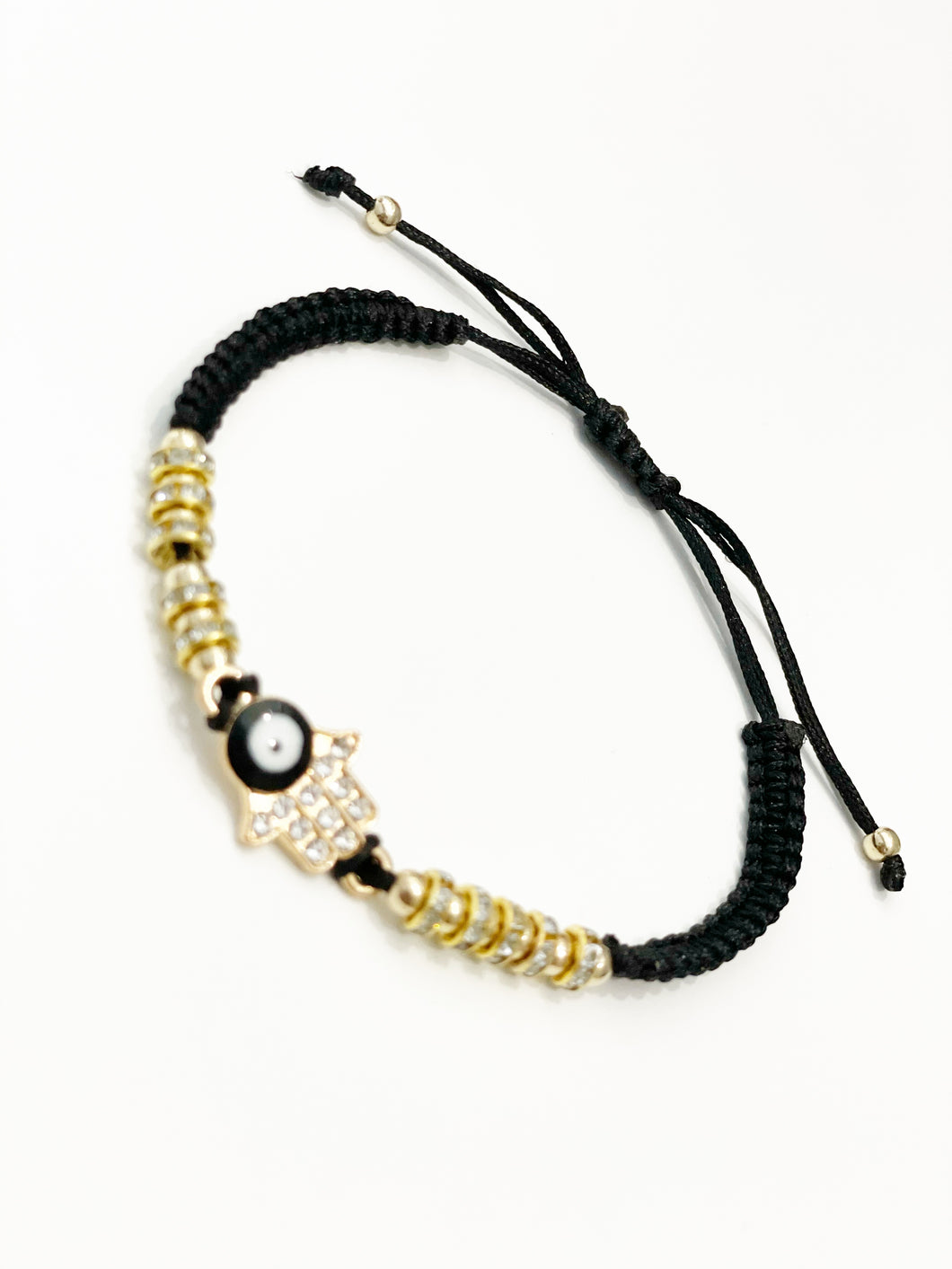 Black ojo gold bracelet