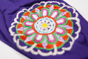 Mandala embroidered face mask