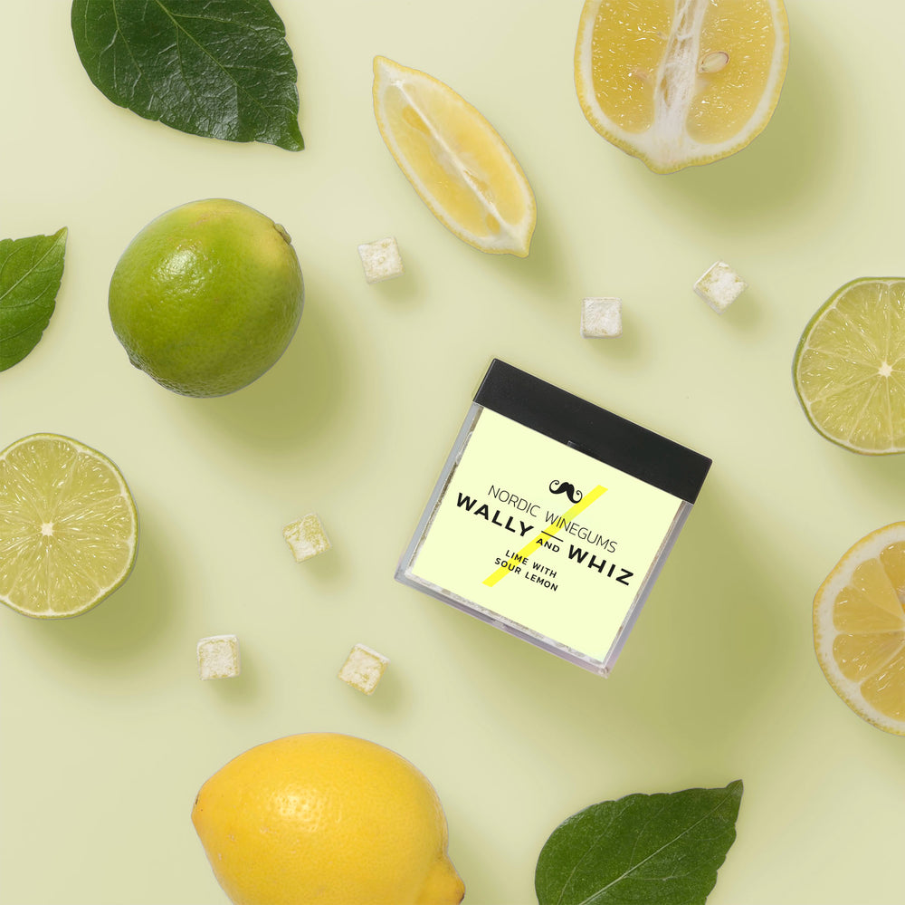 WALLY AND WHIZ - LIME MED SUR CITRON - 140 GRAM