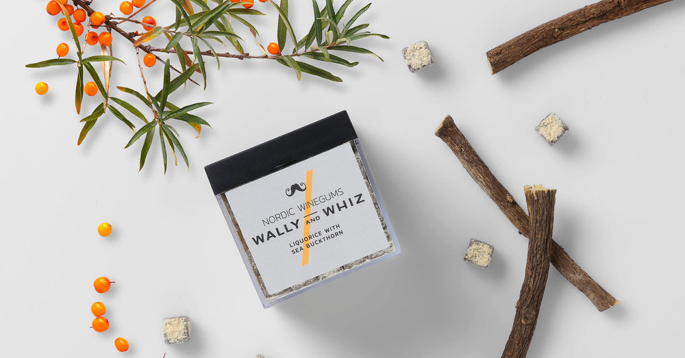 WALLY AND WHIZ - LAKRIDS MED HAVTORN - 140 GRAM