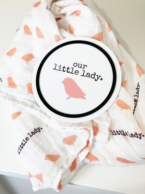 LITTLE LADY BIRTH ANNOUNCEMENT PLAQUES