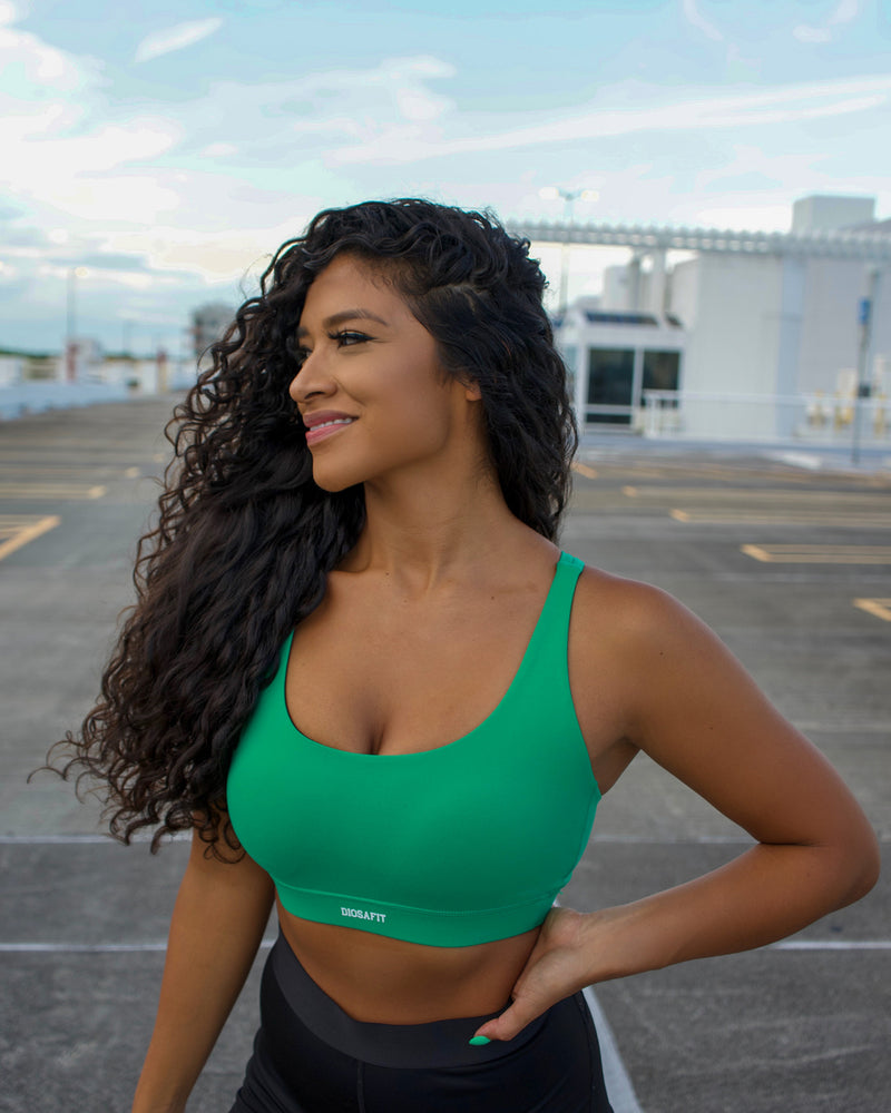 Load image into Gallery viewer, Aloe Green Effortless Sports Bra