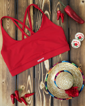 Load image into Gallery viewer, Spicy Red Effortless Sports Bra