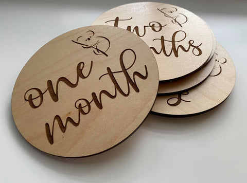 Wooden Monthly Milestones