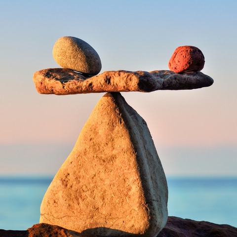 A stack of stones in balance, as your homes should be
