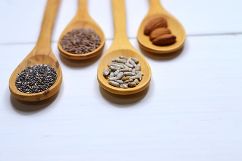 seeds on a spoon