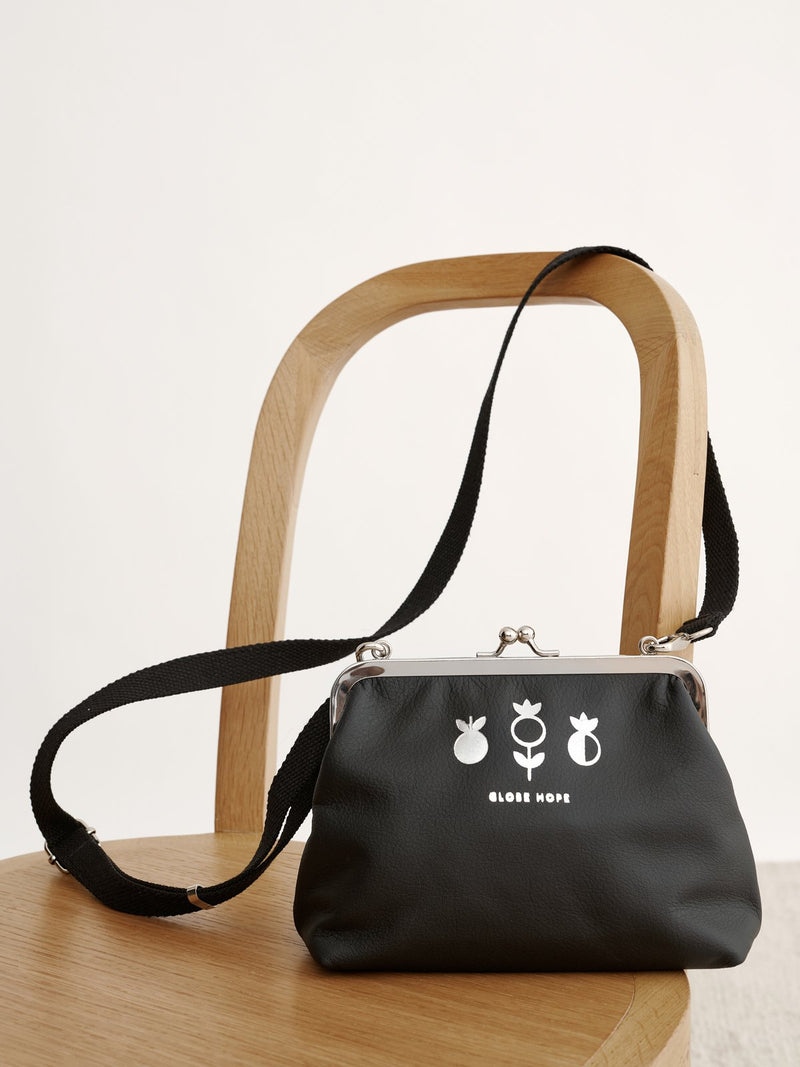 KAJO PLANTAE PURSE, BLACK