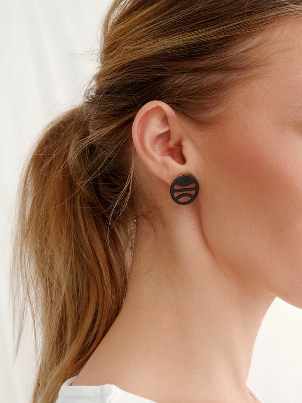 TERRA MINI EARRINGS, BLACK