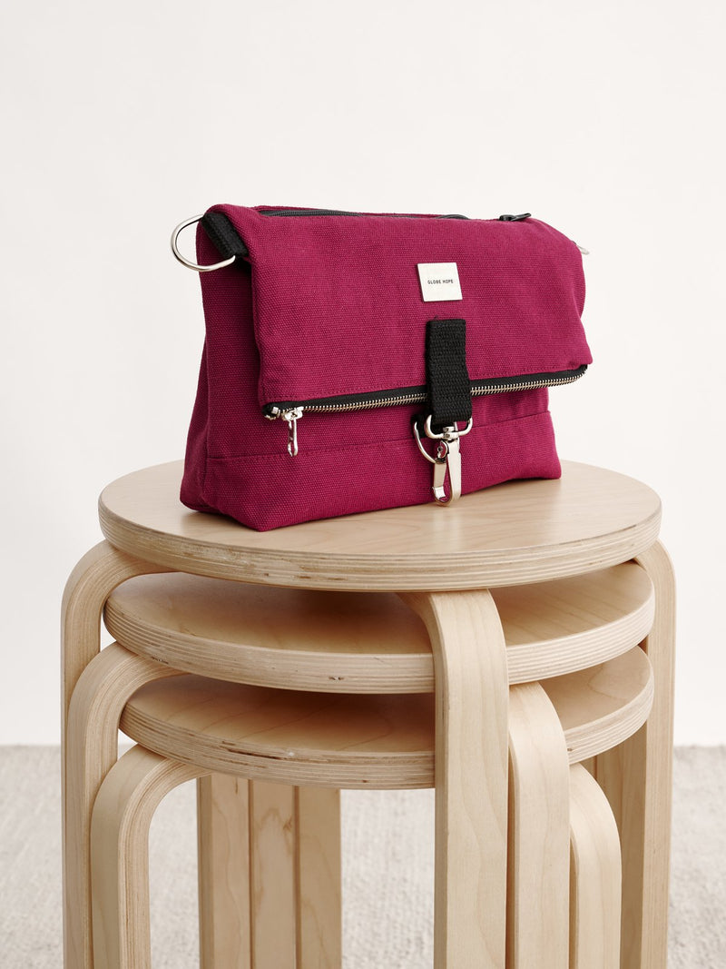 TUISKU BAG, BURGUNDY