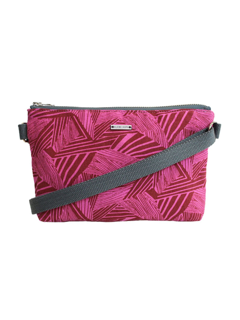 PILVI PRINT BAG, FUCHSIA-RED