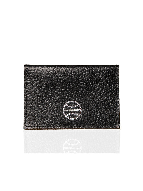 ARO CARD HOLDER, BLACK WITH SILVER