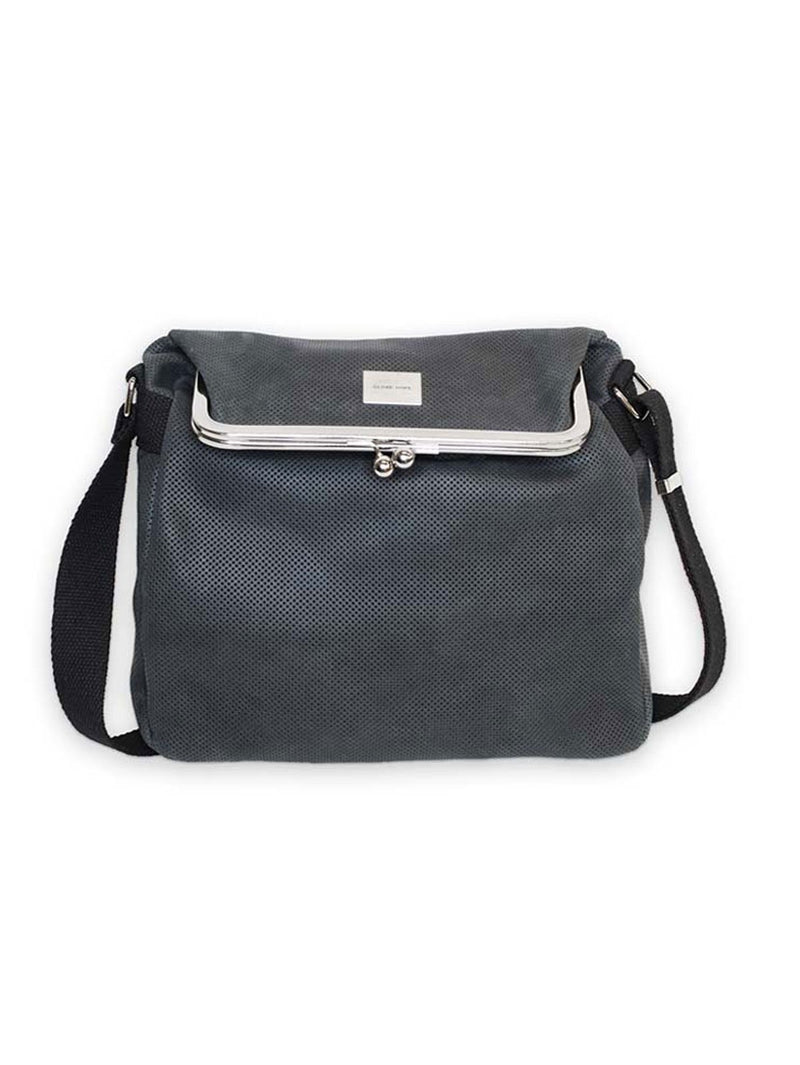 USVA BAG, DARK GREY LEATHER PATTERN