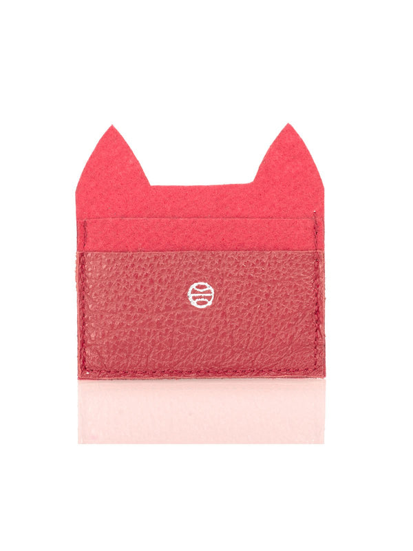 CAT CARD HOLDER, RED