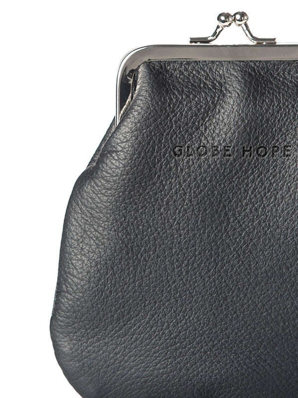 HELLE POUCH, BLACK LEATHER