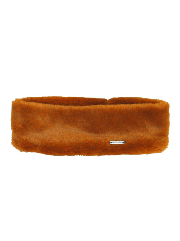 POLANNE HEADBAND, FAUX FUR HONEY ORANGE
