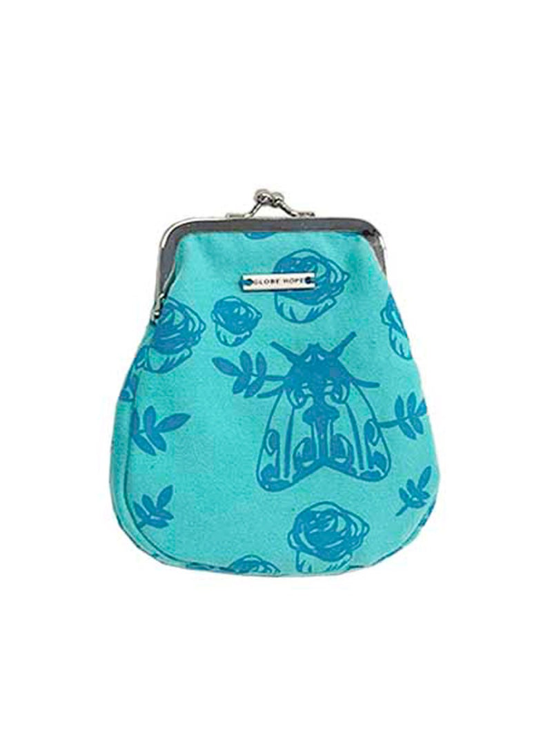RAE PURSE, BLUE MOTH