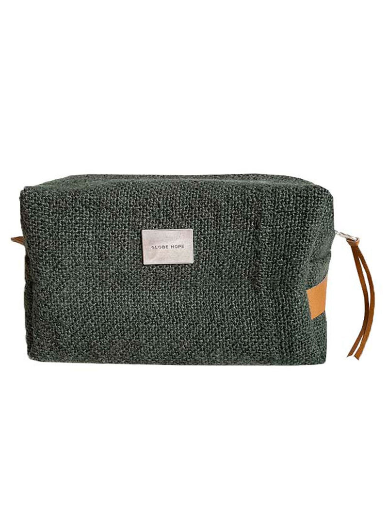 ROUTA TOILETRY BAG, FOREST GREEN