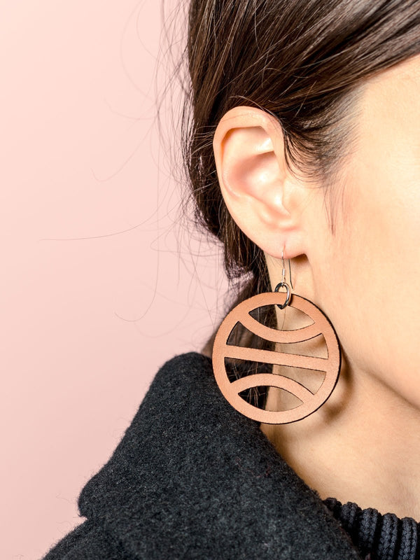 TERRA EARRINGS, BROWN