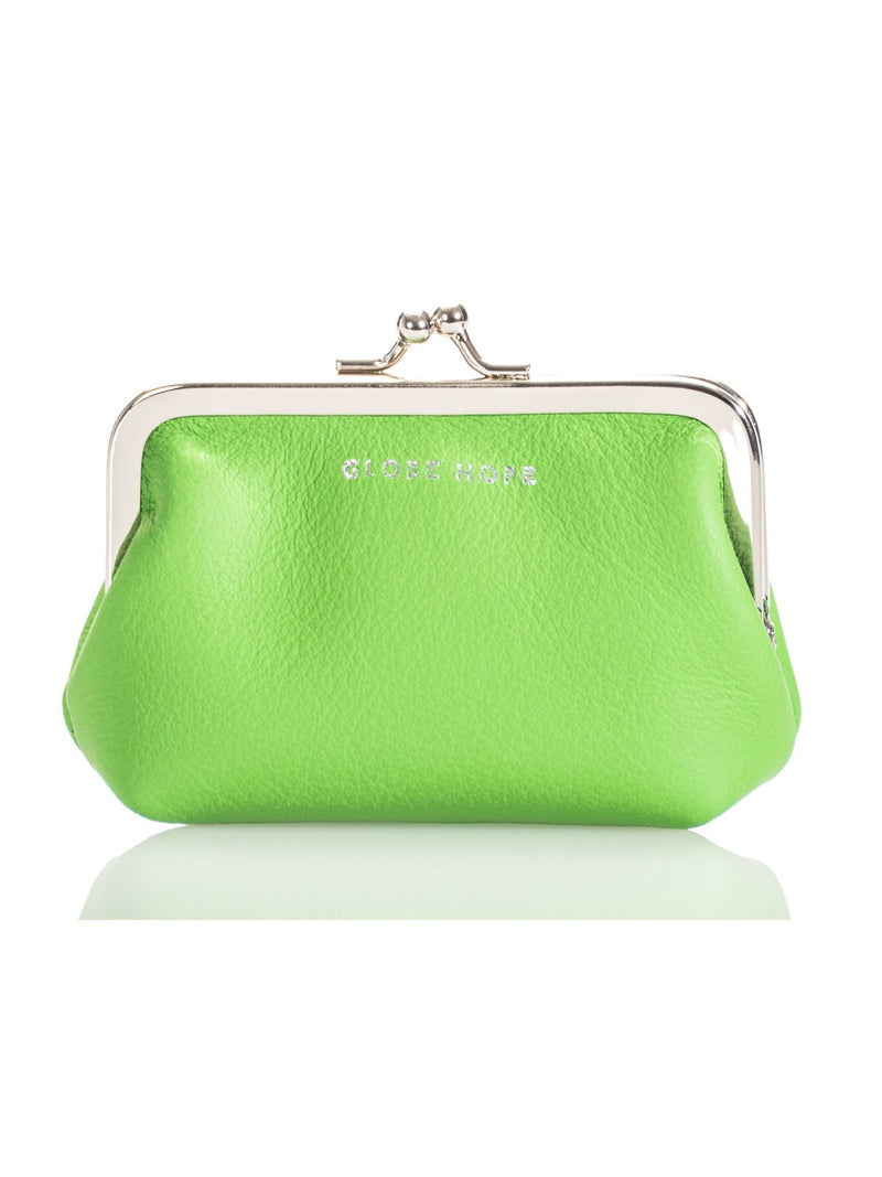TUULI PURSE, GREEN LEATHER