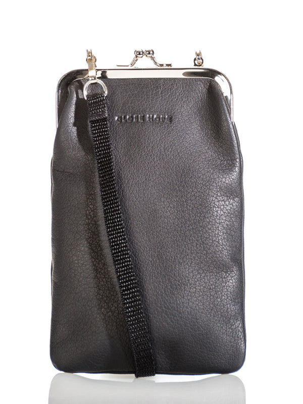 VUOTOS SMALL CLIP PURSE, LEATHER