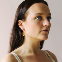 Load image into Gallery viewer, Otazu Crystal Earrings Caramel Necklace