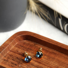 Load image into Gallery viewer, Otazu Everlasting Earrings Montana blue