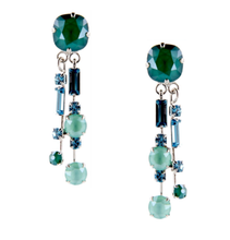 Load image into Gallery viewer, Otazu Nautique Double Silver Earrings