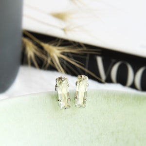 Otazu Aalina Mini Earrings Clear Crystal