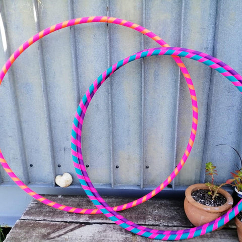 Hula hoops for adults pink purple blue
