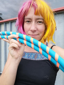 hula hoop blue and orange