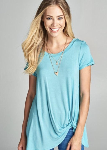 Made For Mint Knot Top
