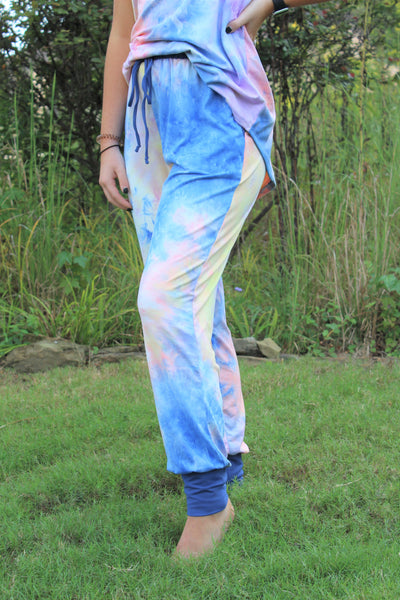 Accent Joggers | Tie Dye at Dusk