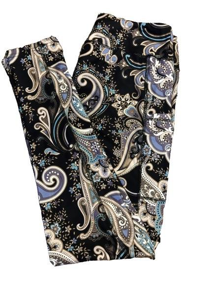 Paisley v2 Full Length Legging WITH pockets
