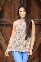 Keyed Into Style Lace Tank