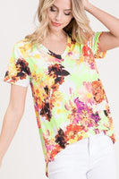 Vibrantly Colored V-Neck Top