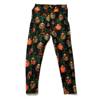 Christmas ornaments full length legging with pockets