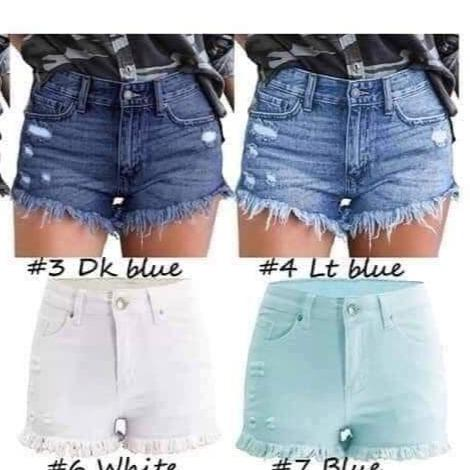 Stretchy Fringe Shorts