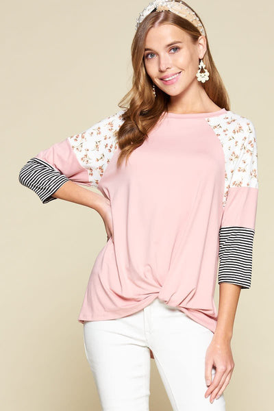 Blushing & Beautiful Raglan Top