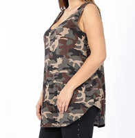 The Summer Camo Tank in Plus