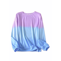 Purple/Blue - Tie Dye Pullover - RTS