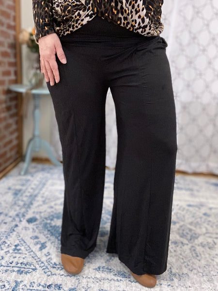 All Dressed Up Black Palazzo Pants