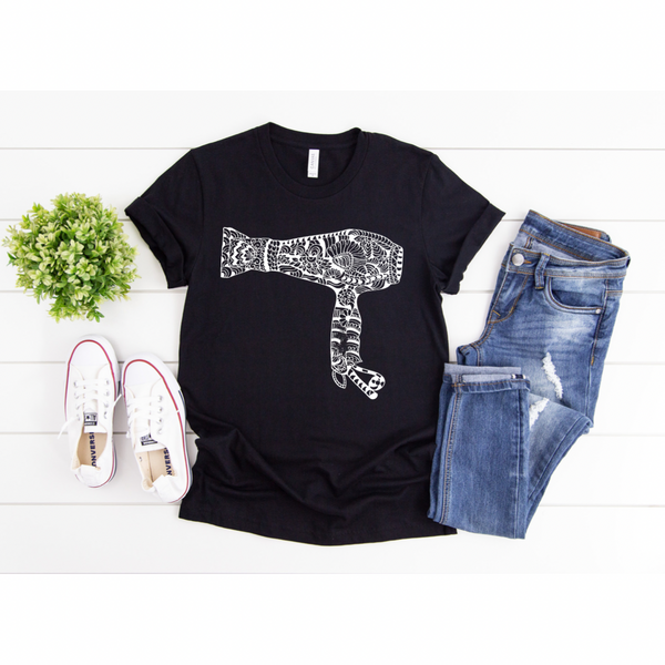 Hair Dryer - Graphic Tee - RTS