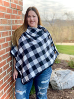 Warm Your Days Poncho in White