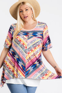 Short sleeve Asymmetric top